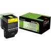 Lexmark 80C2HYE Lézertoner CX410/CX510 nyomtatókhoz, , sárga, 3k