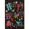 Leykam Alpina (BSB) BSB képeslap, fekete, színes Happy Birthday feliratos (állvány)