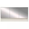 Leziter Luna 120 felső tükrös szekrény, Tükörfényes fehér
