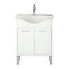 Leziter Nerva 65 cm bútorhoz alsószekrény, mosdóval, Tükörfényes fehér színben