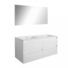 Leziter Porto Prime 120 komplett fürdőszoba bútor tükörfényes fehér színben bútor