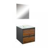 Leziter Porto Prime 60 komplett fürdőszoba bútor antracit-country tölgy színben