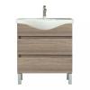 Leziter Seneca 85 cm-es bútorhoz alsószekrény, mosdóval, Rauna szil