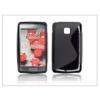 LG E430 Optimus L3 II szilikon hátlap - S-Line - fekete