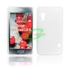 LG E460 Optimus L5 II fehér szilikon tok