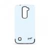 LG K10, Műanyag hátlap védőtok, közepesen ütésálló, Beeyo Synergy, fehér