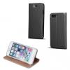 LG X Power, Oldalra nyíló tok, stand, Smart Premium, fekete