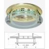Life Light Led Led beépíthető spot lámpatest, üveg/arany design, fix, MR16 foglalattal Life Light led ÚJ!