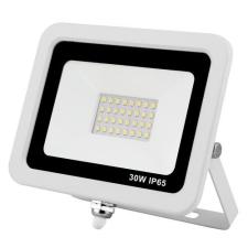 Life Light Led Led reflektor 30W, keskeny, fehér házban, IP65, vízálló. 3000 Lumen, 4000 kelvin, közép fehér. Life Light led 2 év garancia! izzó