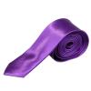 Lila vékony selyemhatású nyakkendő