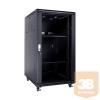 Linkbasic álló rack szekrény 19'' 22U 600x800mm fekete