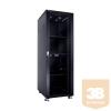 Linkbasic álló rack szekrény 19'' 37U 600x800mm fekete, füstös szürke ajtó