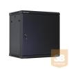 Linkbasic fali rack szekrény 19'' 15U 600x600mm fekete, acél ajtó