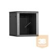 Linkbasic fali rack szekrény 19'' 18U 600x600mm fekete
