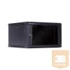 Linkbasic fali rack szekrény 19'' 6U 600x600mm fekete