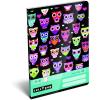 LizzyCard Füzet tűzött A/5 vonalas Lollipop Dark Owl 17302022