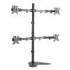 """LogiLink asztali quad monitor tartó konzol, dönthető, forgatható 13–32"""" max 8 kg/kar fekete  (BP0046)"""