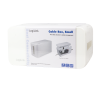 LogiLink - Cable Box; 235x115x120mm; White