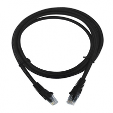 LogiLink CAT6 U/UTP Patch Cable EconLine AWG24 black 2,00m kábel és adapter