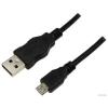 LogiLink CU0034 USB 2.0 A-B Micro adatkábel - 1.8m - fekete