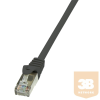 LogiLink patch kábel, Cat.6 F/UTP EconLine 7,5m fekete