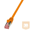 LogiLink patch kábel, Cat.6 S/FTP PIMF PrimeLine 0,5m narancssárga