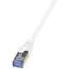 LogiLink - Patch kábel Cat.6A 10G S/FTP PIMF PrimeLine 0,50m fehér