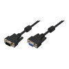 LogiLink - VGA extension cable male female black 10 meter