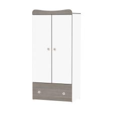 Lorelli Exclusive 2 ajtós szekrény - white and coffe bútor