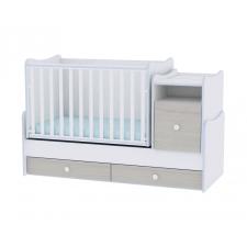 Lorelli Trend PLUS kombi ágy 70x165 - White & Blue Elm / Fehér & Kék csíkozás kiságy, babaágy