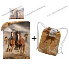 Lovas ágyneműhuzat, Horses - ajándék tornazsákkal! (100% pamut) (40556) lakástextília