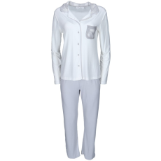 Luisa Moretti A női pizsama CLAUDIA bambuszból L Krém szín-silver / Cream-silver