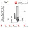 Lutec ST2671-CAM ELARA kamera+audió+PIR szürke 18W IP44 kültéri lámpa