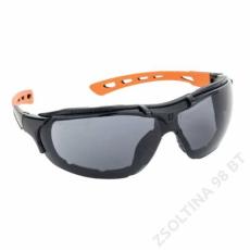 Lux Optical® SPIDERLUX 2/1, füstszürke védőszemüveg + szivacsbetét