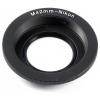 M42-Nikon bajonett átalakító gyűrű (üveggel)