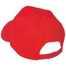 M-Collection Vászon baseballsapka, piros