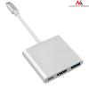 MACLEAN Maclean MCTV-840 Adapter USB-C - HDMI / USB 3.0 / USB-C metal housing 4K OTG