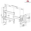 "MACLEAN Mount Maclean MC-719 (Rotary, Tilting, Wall; 13"" - 27""; 15 kg)"