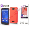 Made for Xperia MUVIT Sony Xperia E4 (E2104/E2105) hátlap - Made for Xperia Muvit Soft Touch - orange