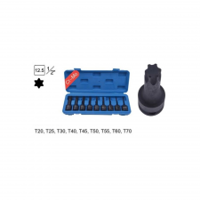 """Magma - Légkulcsfej készlet 1/2"""" 9 db Torx külső torxkulcs"""