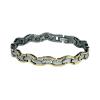 Mágneses karkötő arany/ezüst -kígyó /1506/