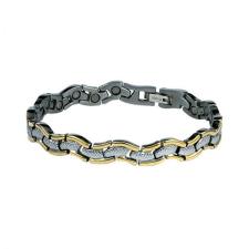 Mágneses karkötő arany/ezüst -kígyó /1506/ karkötő