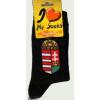 Magyar címeres fekete zokni 36-40
