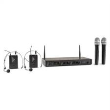 Malone Duett Quartett Fix, V2, 4 csatornás UHF vezeték nélküli mikrofon készlet, 50 m-es hatókör mikrofon