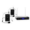 Malone Malone VHF-400 Duo 2, 2 csatornás VHF vezeték nélküli mikrofon, 1x vevőkészülék + 2x Headset