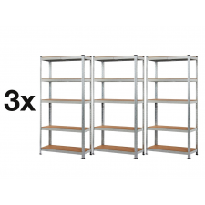 MAMUUT SHELVES AKCIÓS CSOMAG, 3 DARAB SALGÓ POLC 2000x900x500 mm horganyzott 5-polc, teherbírás 875 kg bútor