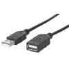 MANHATTAN Hi-Speed USB hosszabbító kábel A-A M/F 1,8m