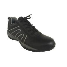 Manutan bőr tornacipő acél orrbetéttel, fekete/szÜrke, méret: 39