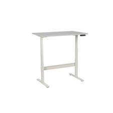 Manutan irodai asztal, elektromosan állítható magasság, 120 x 80 x 62,5 - 127,5 cm, egyenes kivitel, ABS 2 mm, világosszürke irodabútor