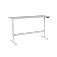 Manutan irodai asztal, elektromosan állítható magasság, 200 x 80 x 62,5 - 127,5 cm, egyenes kivitel, ABS 2 mm, világosszürke irodabútor